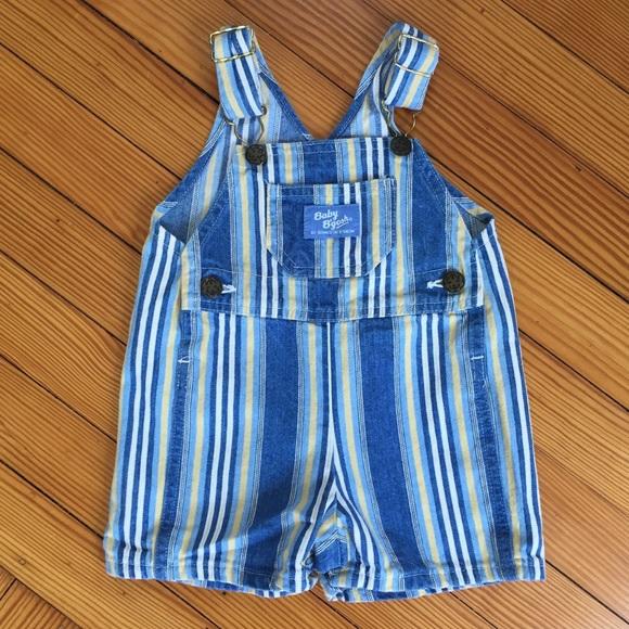 OshKosh B'gosh Other - OshKosh Vintage Baby Boy Striped Shortalls